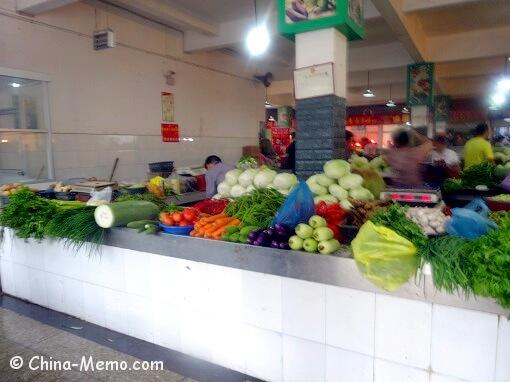 China Local Food Market Vegetabls