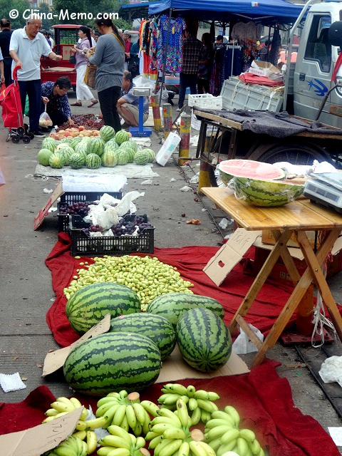 Chinese Local Street market