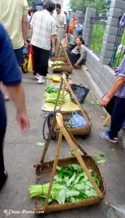 China Local Street Market Vegetables
