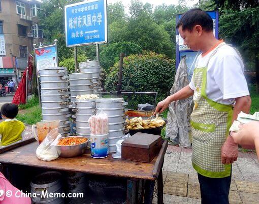 China Local Street Food Market Dumplings