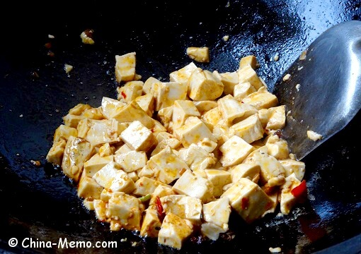 Chinese Mapo Tofu (Cooking)