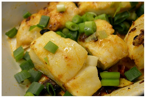 Chinese Microwave Fish Cod Closeup