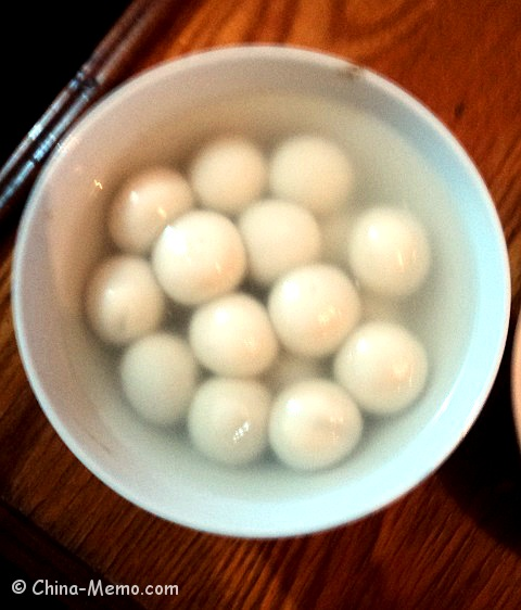Chinese Rice Balls with Sweet Sesame Filling