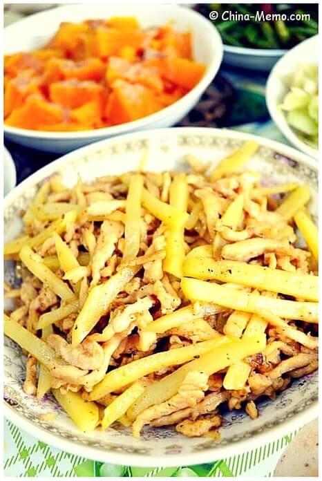 Chinese Pork Fried Potato