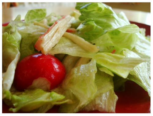 Chinese Style Salad Lettuce & Seafood.