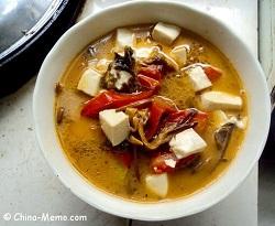 Chinese Tomato Tofu Soup