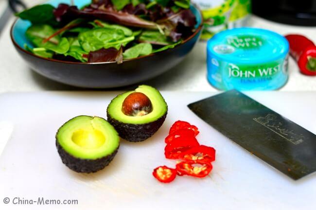 Tuna, Avocado and Red Chili