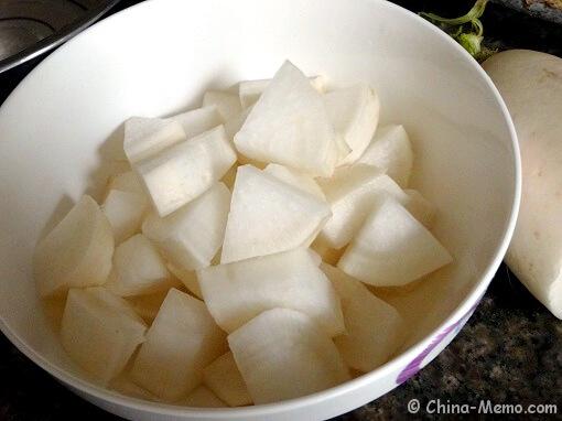 Chinese White Radish.