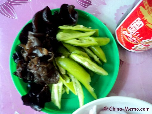 Chinese Black Wood Ears & Green Chilli