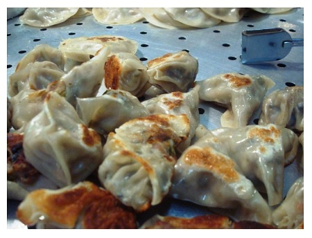 Chinese Food Fried Dumplings.