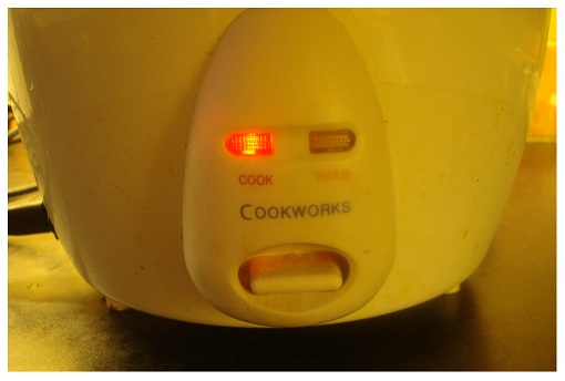 Rice Cooker Function Lights.