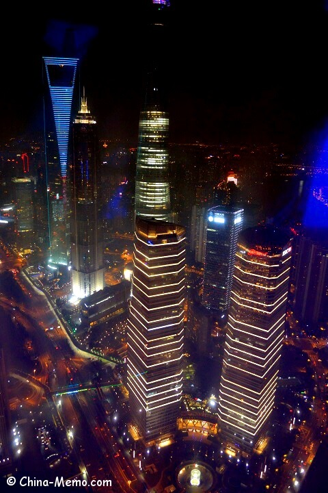 Shanghai Pudong Building view from TV Tower.