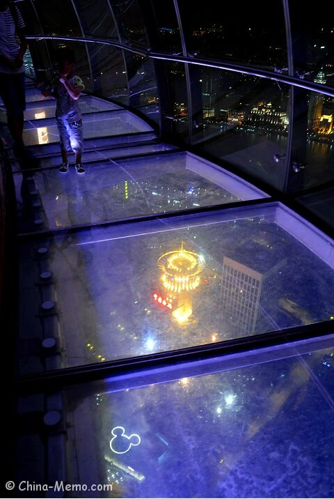 Shanghai Oriental Pearl Tower Glass Observation Deck.