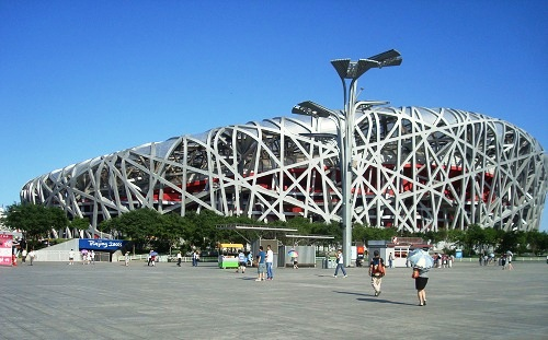 The Bird's Nest (Beijing National Stadium).