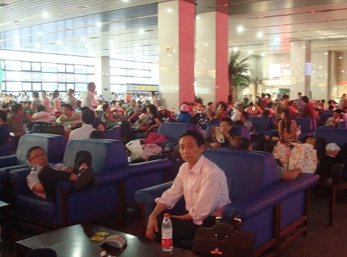 Beijing West Station Waiting Room for Soft Seat Sleeper Train Passengers.