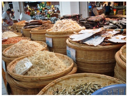 China Food Supermarket Dried Fishes.