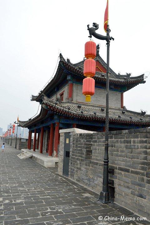 China Xian City Wall Tower