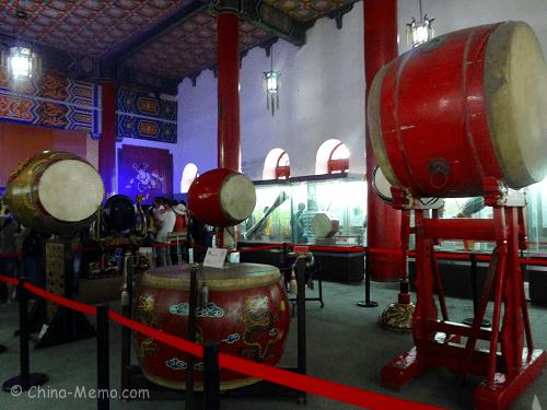 The drum museum inside Drum Tower.