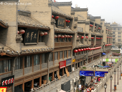 Shops Near Xian Drum Tower.