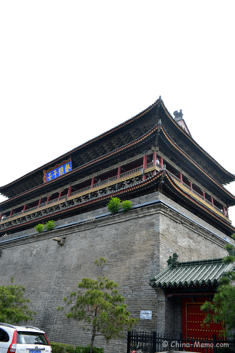China Xian Drum Tower Right View.