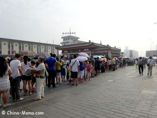 Queue at Xian Train Station for Bus to Terracotta Army