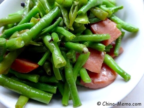 Chinese Beans Fried Hotdog Sausages