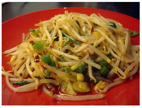Chinese Food Sichuan Style Salad Beansprout.