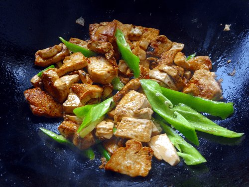 Chinese Cumin Tofu and Green Chillies