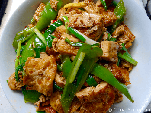 Chinese Cumin Tofu with Green Chillies