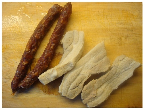 Chinese Preserved Sausages and Pork Bellies.