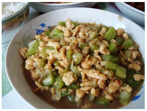 Chinese Daily Meal Pork Fried Vegetable.