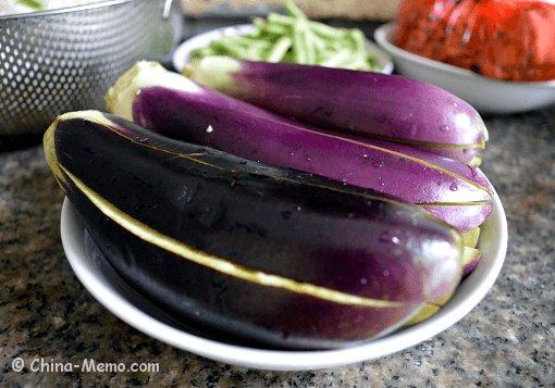 Chinese Eggplant Cut