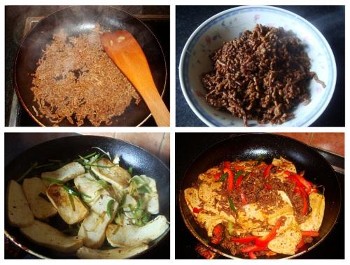 Chinese Tofu Pork Cooking