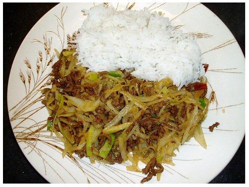 Chinese Potato Meat & Rice.