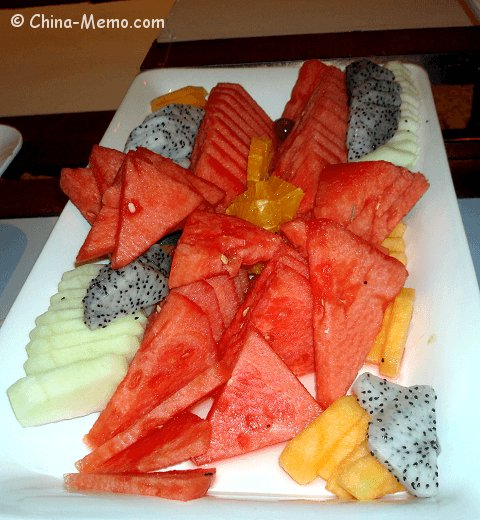 Chinese Fruit Plate