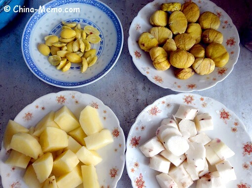 Chinese Huai Shan, Baihe, Chestnut & Potato