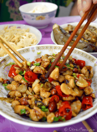 Authentic Chinese Kong Bao Chicken.