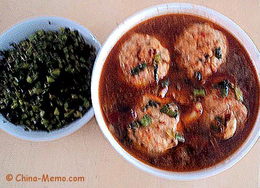 Chinese Lion Head Meatballs Dish