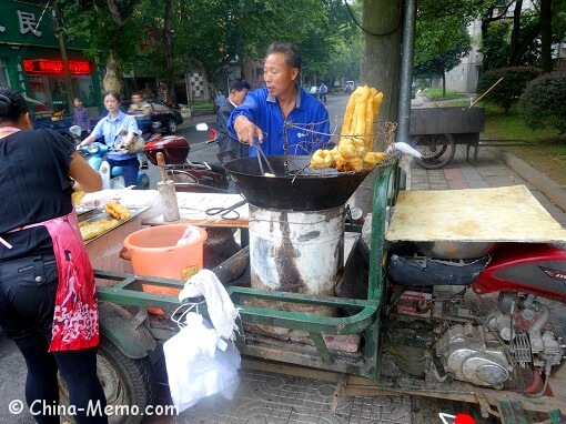 China Local Street Food Market Breakfast Stall