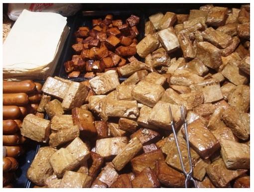 Chinese Food Market Tofu.