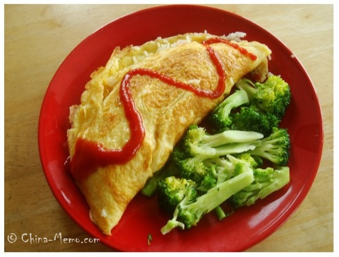 Chinese Omelette Prawn Rice