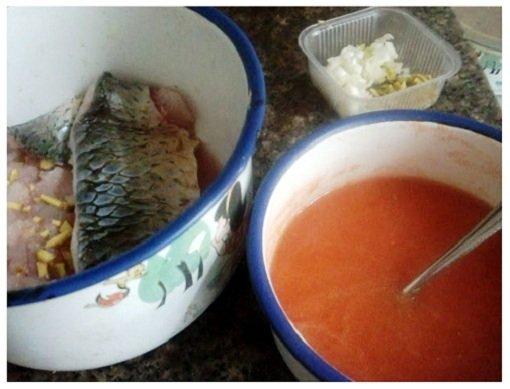 Chinese Pine Nut Fish & Homemade Tomato Sauce