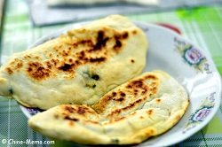 Chinese pork chive pancake made by pressure cooker
