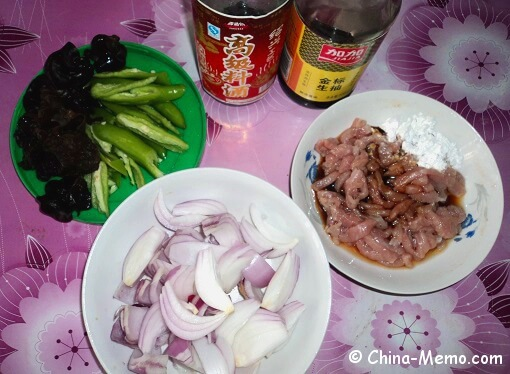 Chinese Spicy Pork Onion Ingredients