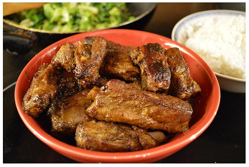 Chinese Red Cooked Ribs.