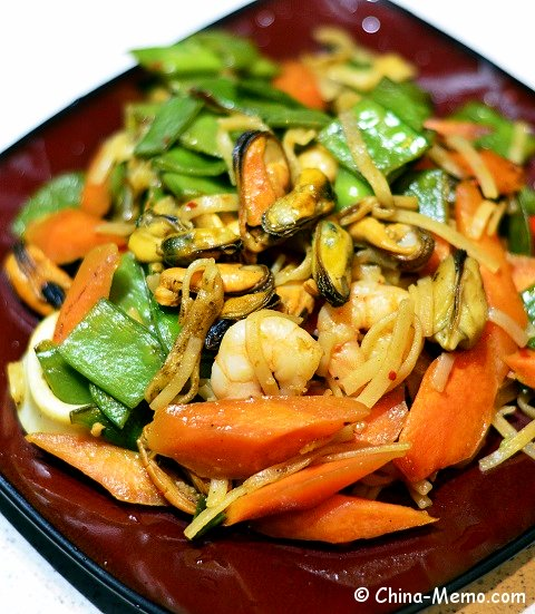Chinese Seafood Fried Rice Noodles