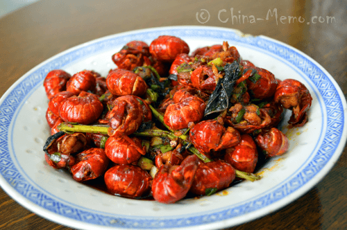 Chinese Spicy Lobster Dish.