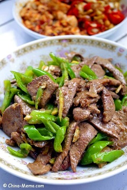 Chinese Pork Liver Fried Chilli