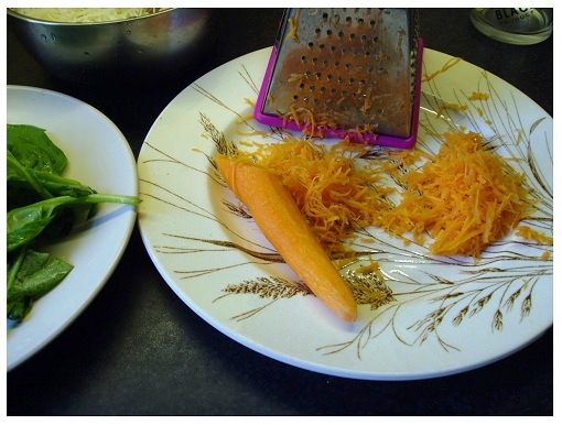 Chinese Spinach and Carrots.