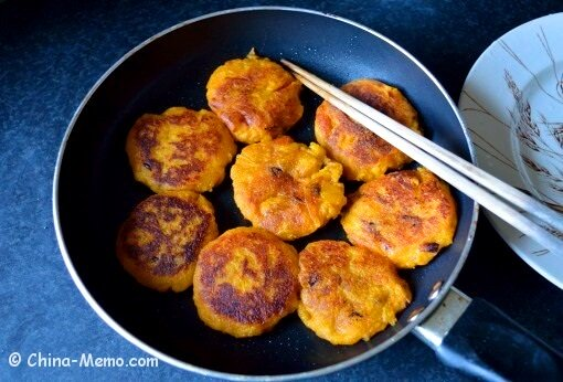 Chinese Squash Cakes Fried.